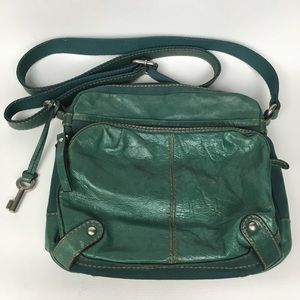 FOSSIL Leather/Canvas Cross Body
